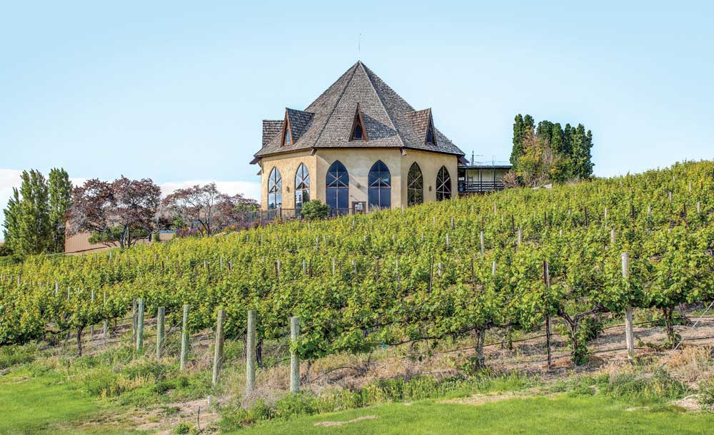 The Snake River Valley's Sunny Slope Wine Trail features 15 wineries and vineyards, including Ste. Chapelle.