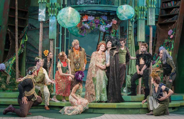 """""""A Midsummer Night's Dream"""" played at the Idaho Shakespeare Festival's amphitheater."""