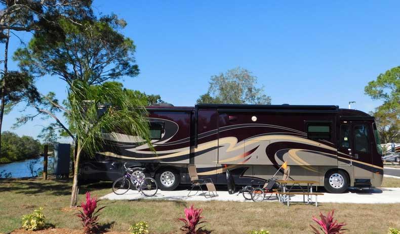 RV pad at Bay Bayou RV Resort