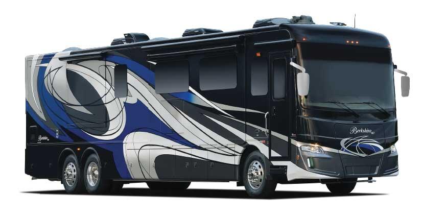 Luxury Motorhomes: Forest River Berkshire XLT 45CA exterior