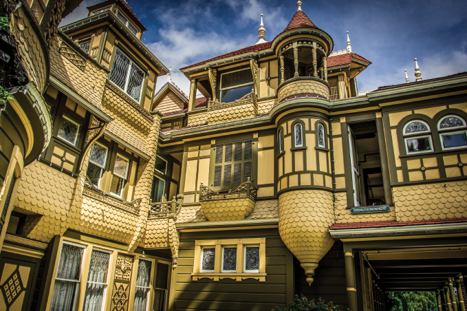 """San Jose, California's Winchester Mystery House has been called """"The most haunted house in the world."""""""