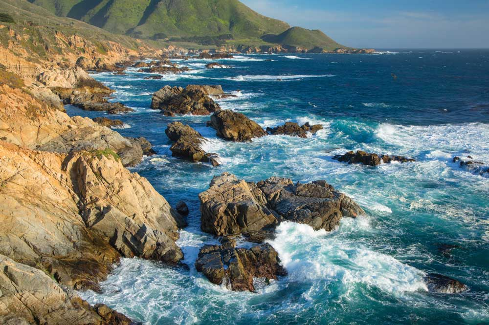 The coast is a dramatic sight from Garrapata State Park along Big Sur Coast Highway Scenic Byway.
