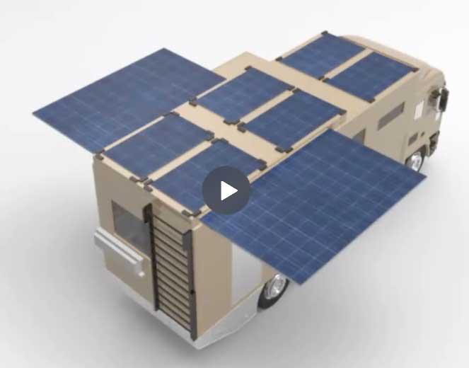 Screenshot of Hybrid Motorhome concept video