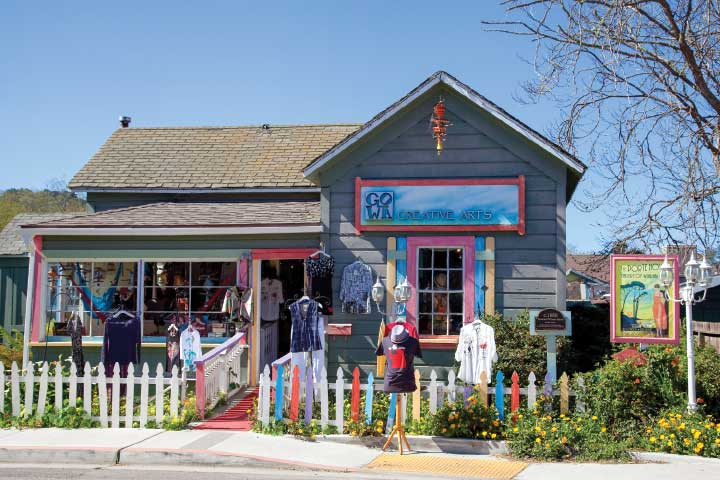 One-of-a-kind shops and galleries enliven the scene on a walking tour of Cambria's historic village.