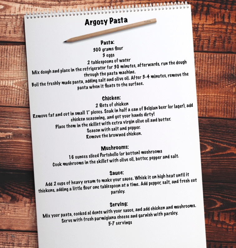 Camper Chef Bart Cops' recipe for Argosy Pasta