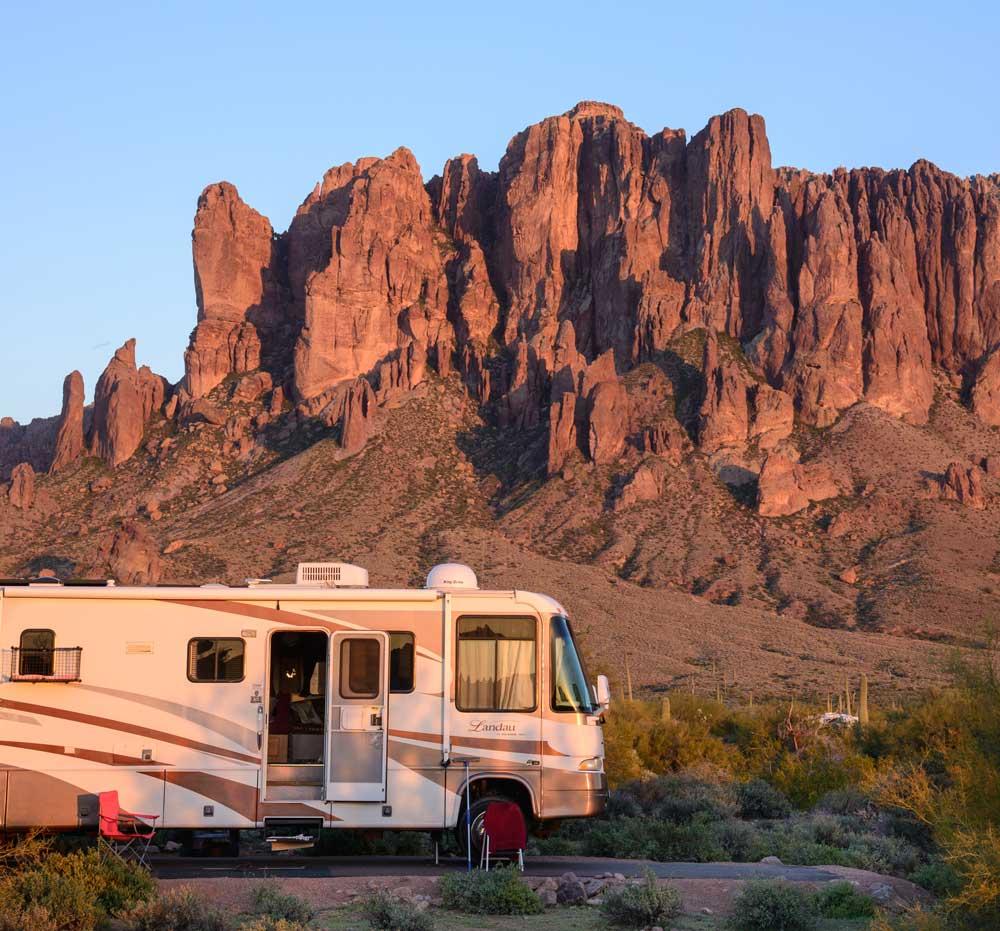 campsite at Lost Dutchman State Park, Apache Junction