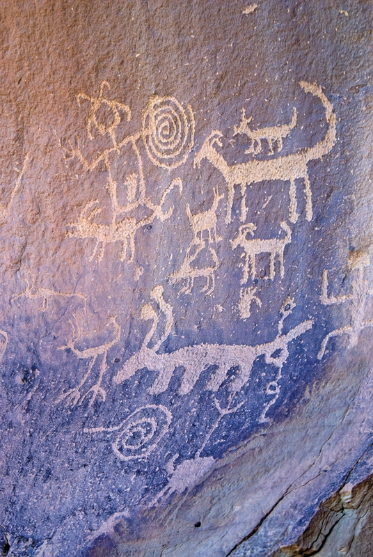 Among the many mysteries left behind by the ancient Chacoan people are the petroglyphs and pictographs they created on the walls of buildings and the landscape in their world.