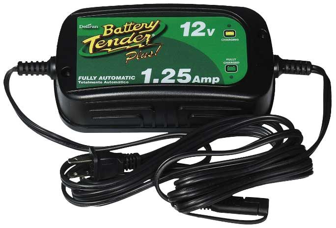 Maintenance chargers keep stored batteries charged automatically. Deltran's high-efficiency Battery Tender Power Tender products are among those approved for use in states such as California and Oregon where battery chargers are required to be energy-efficient.