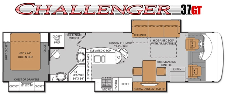 2013 Challenger 37GT Floorplan