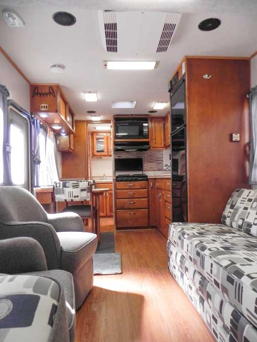 The open floorplan makes the Trek feel much bigger than its size.