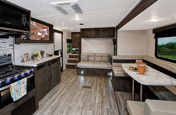 Living area of Coachmen Clipper Ultra-Lite 262BHS travel trailer