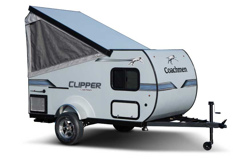 Coachmen Clipper Express 9.0TD exterior in raised position