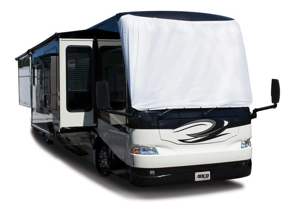 MotorHome with covered windshield