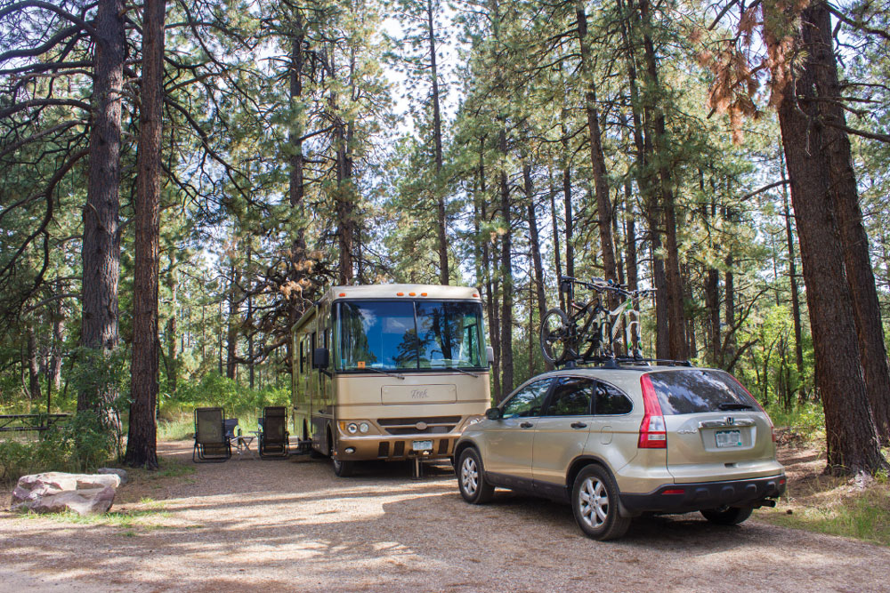 Junction Creek Campground (29 sites with electric hookups only), northwest of Durango, sits near the beginning of the Colorado Trail, which stretches 470 miles to Denver.