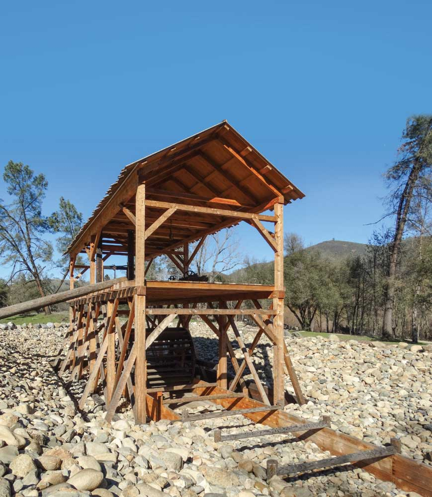 Indoor and outdoor exhibits can be found throughout Marshall Gold Discovery State Historic Park, and detail the area's extensive mining and gold discovery history.