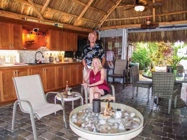 Tiki hut at Bluewater Key RV Resort