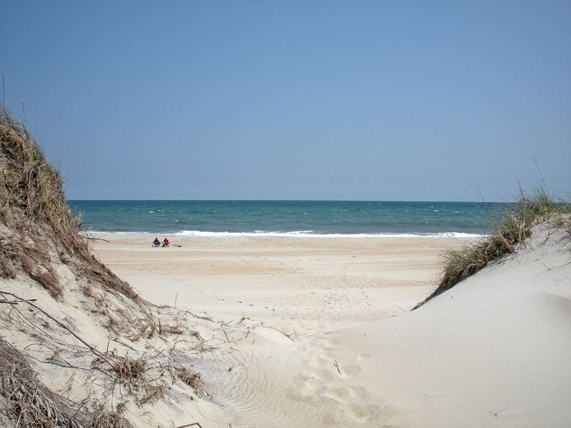 Pristine beaches directly behind the campsites draw return visitors to Ocracoke Island's National Park Service Campground.