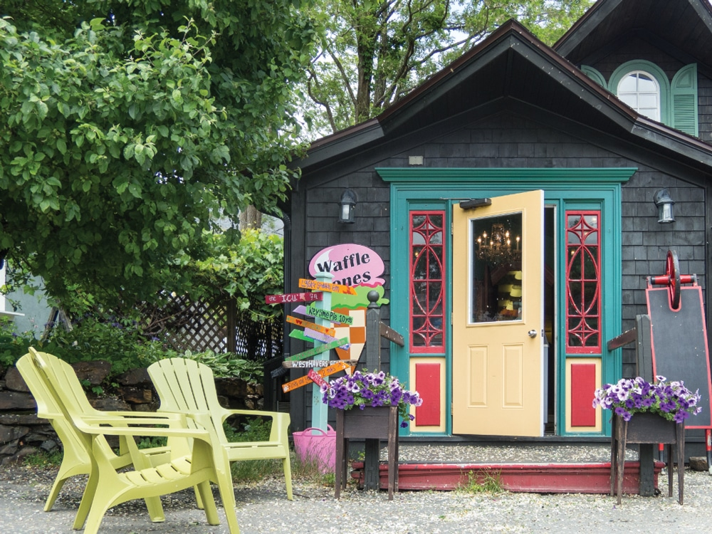 Cute eateries and boutiques give Mahone Bay a special charm.