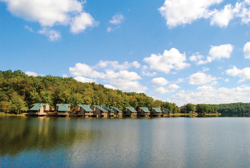 Places to stay range from lakeside cabins to the beautiful, fully equipped campground with 222 paved, level sites.