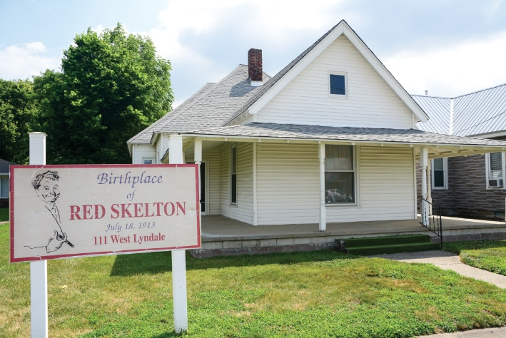 """The boyhood home of comedian and favorite son Richard """"Red"""" Skelton."""