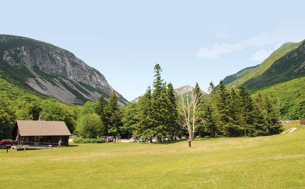 Stunning Franconia Notch is a major pass through the White Mountains. Interstate 93 transits the Notch but required an act of Congress, as it could only be a two-lane road.