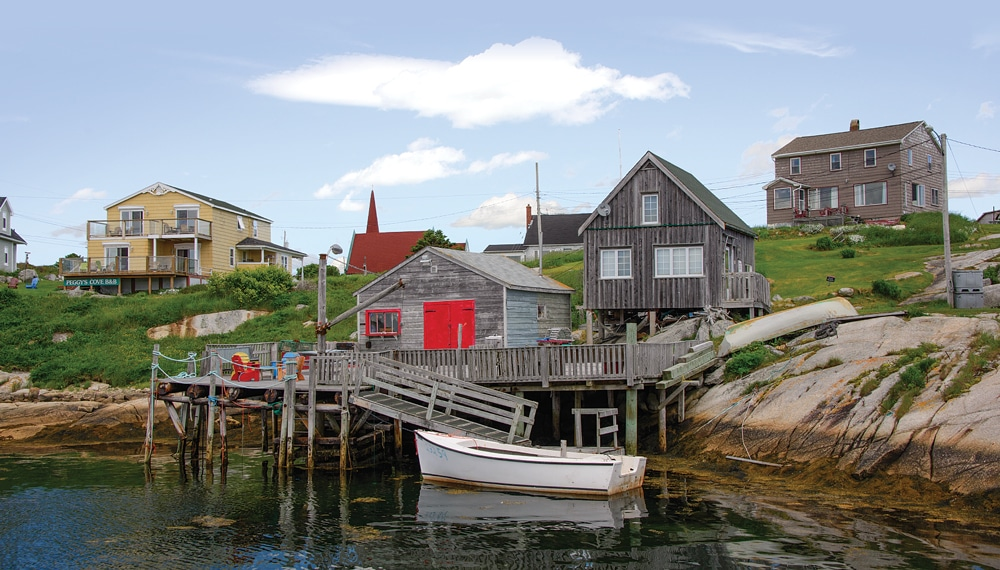 Peggy's Cove offers a glimpse of a bygone era when fishermen harvested the bounty of the sea.