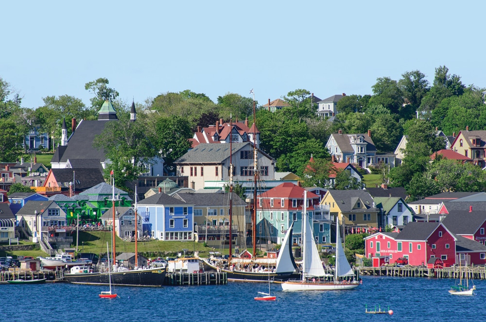 Classic schooners and ketches fill the harbor at Lunenburg, settled in the mid-1700s.