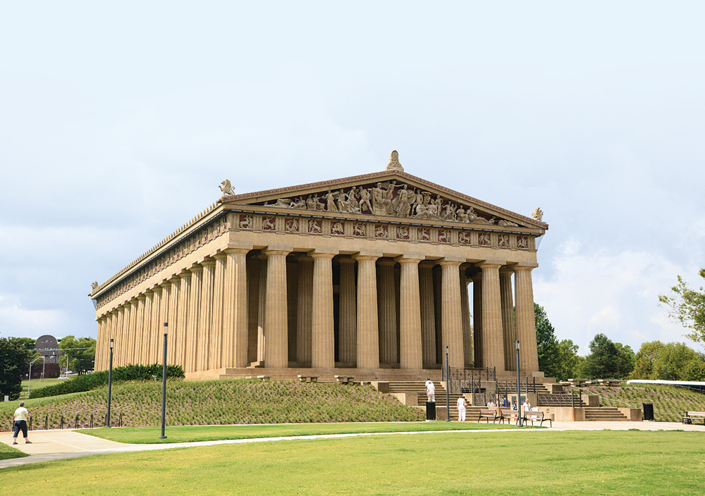 Called the Athens of the South because of its status as a capital city with many universities, Nashville built the world's only full-scale copy of the Parthenon in 1897.