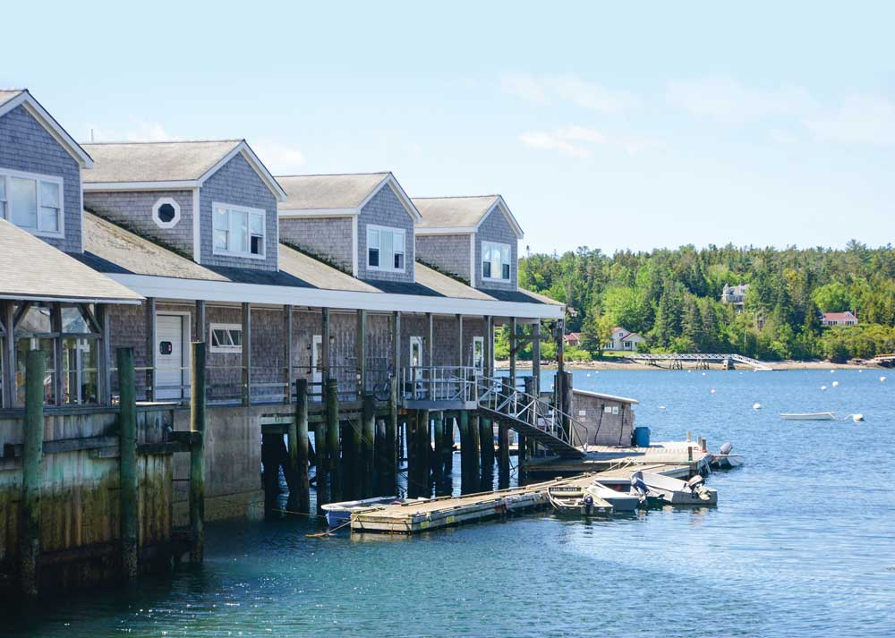 This dock in Southwest Harbor, where you can watch boats coming and going, houses Beal's Lobster Pier, a popular seafood restaurant.