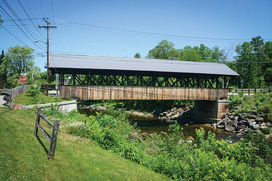 Built in 1862, the beautiful Mechanic Street Bridge in Lancaster is also known as the Israel River Bridge.