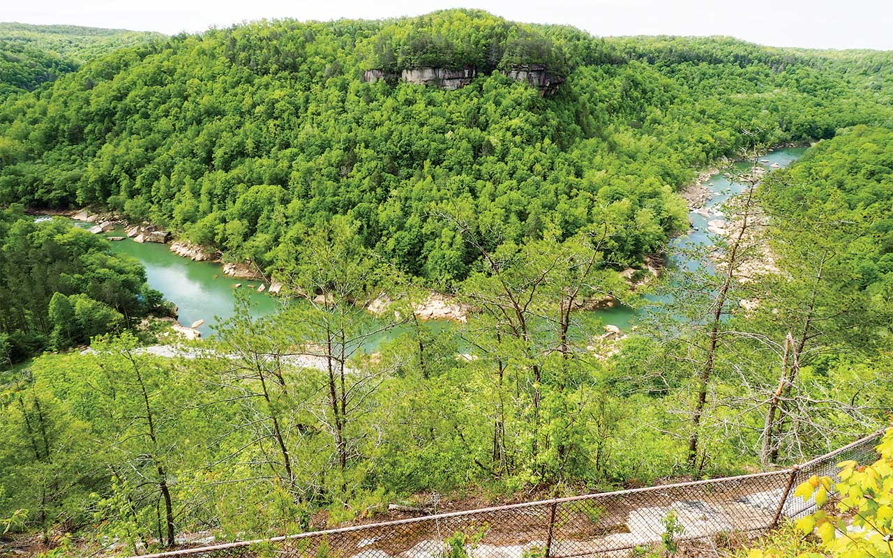 Devil's Jump Overlook in Big South Fork National River and Recreation Area