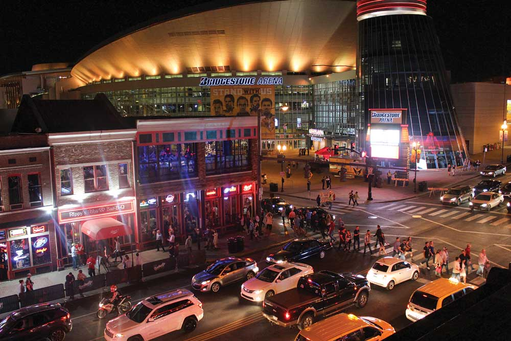 The Bridgestone Arena located downtown hosts a variety of entertainment events and is the home of the NHL's Nashville Predators.