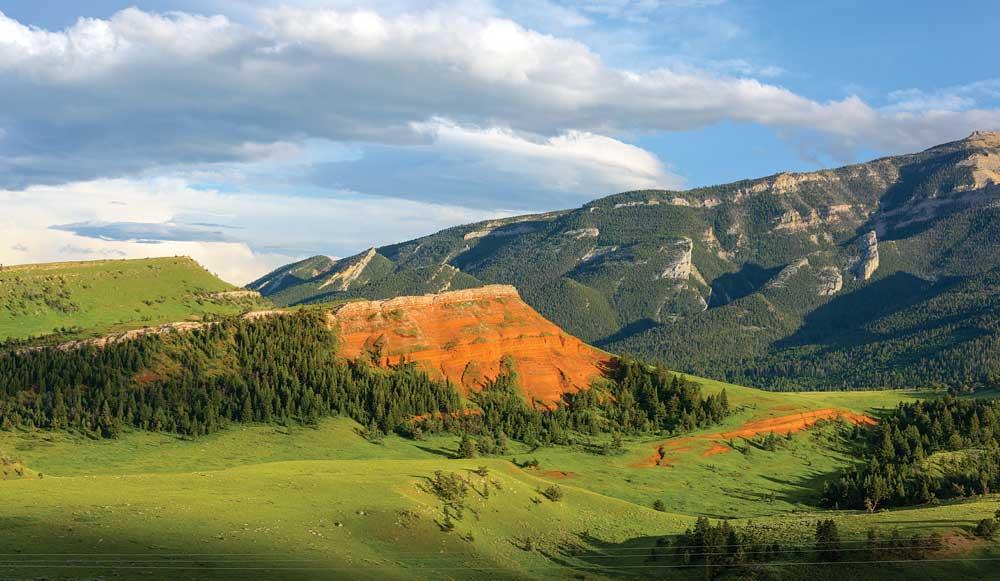 A stunning vista from Chief Joseph Highway