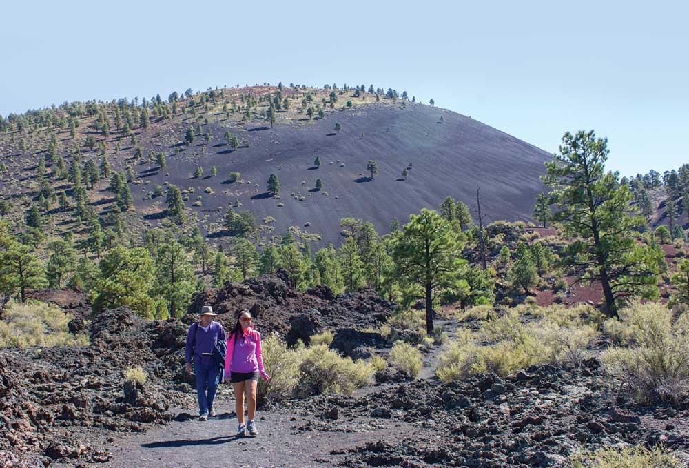 A chance encounter with volcano enthusiast Cassie Lentz made our hike through Sunset Crater Volcano National Monument even more enjoyable.
