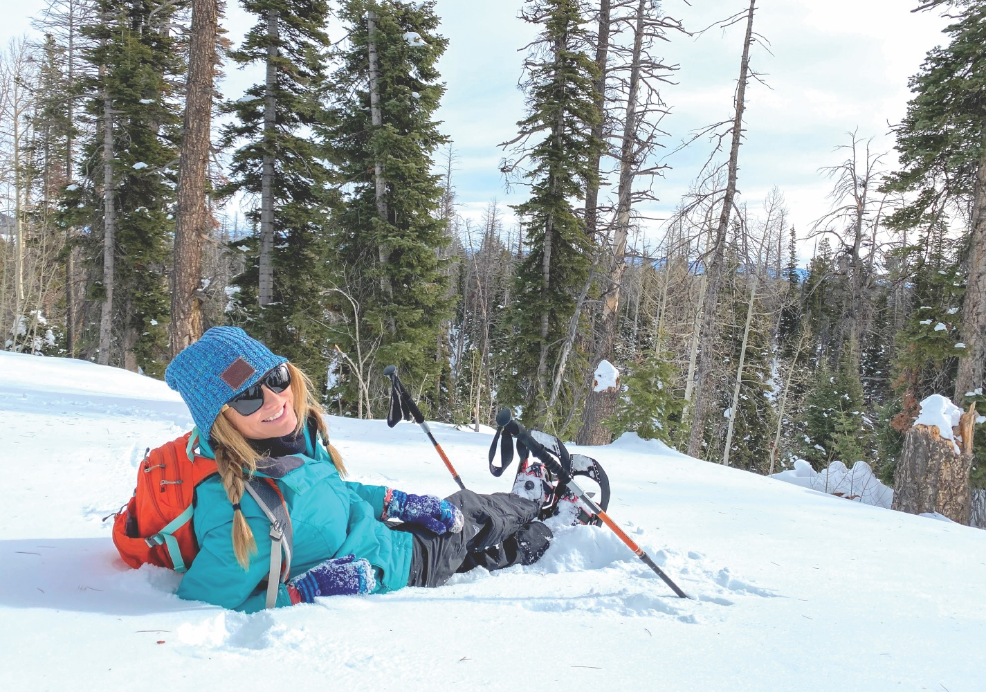 Stefany snowshoeing to stay fit