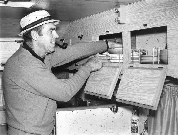Fred MacMurray in a motorhome