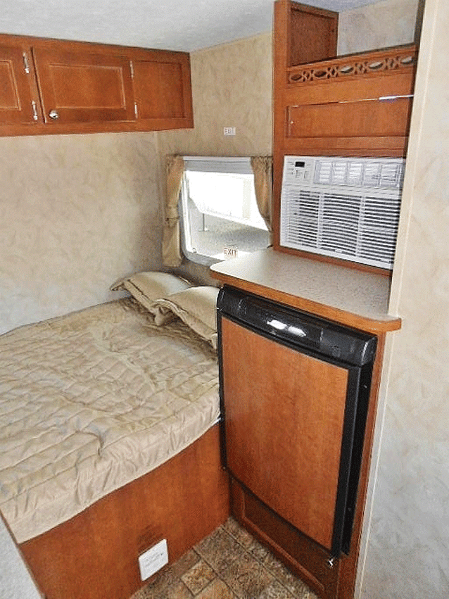 The White Water Retro 150's bed in back.