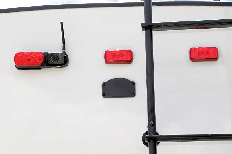 Photo shows the rear camera is offset from the actual marker light.