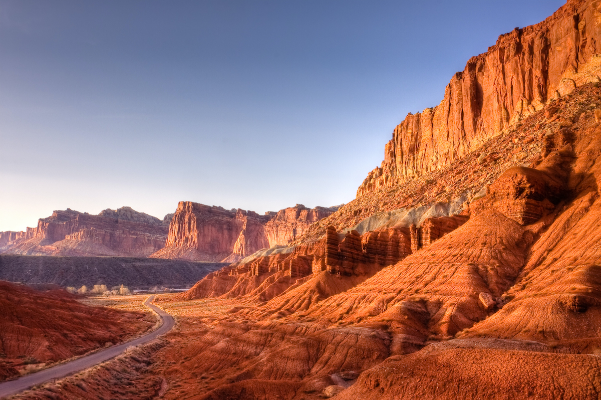 Utah's red rock Capitol Reef's Scenic Byway leads to historic Fruita