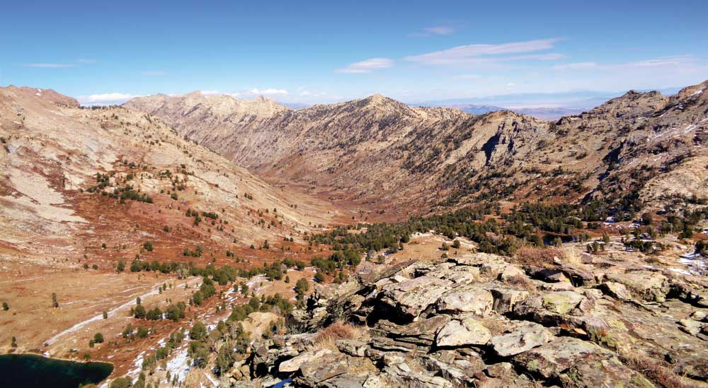 Overview photo of the Ruby Mountains