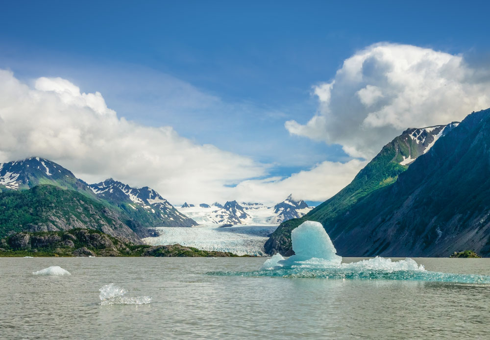 Grewingk Glacier in Kachemak Bay State Park near Homer
