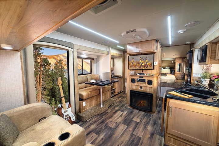 Interior of Host slide-in camper