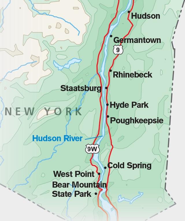 Hudson River Valley Map