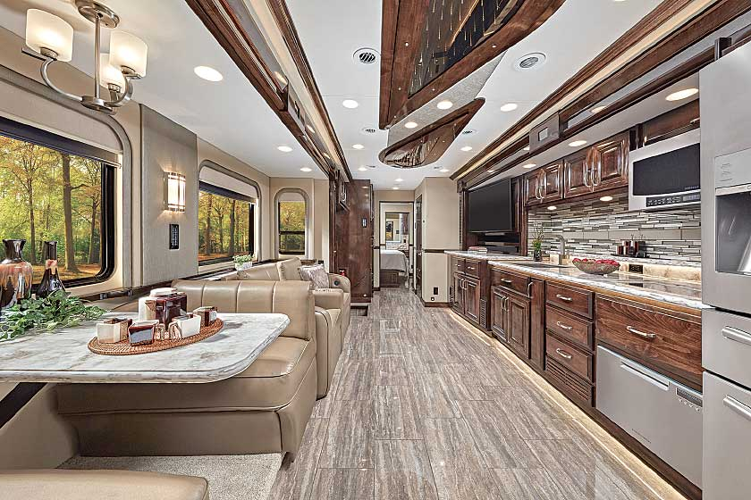 Renegade IKON 4534RQ Class C motorhome living area