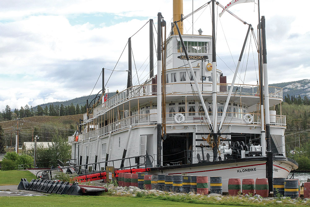 Launched in 1937, the S.S. Klondike II now docks permanently on the Yukon River in Whitehorse. A national historic site, the riverboat is a showpiece of the region's history.
