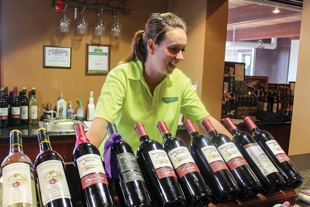 Established in 1974, Door Peninsula Winery offers more than 45 different wines to guests at their tasting bar, along with tours of the facility.