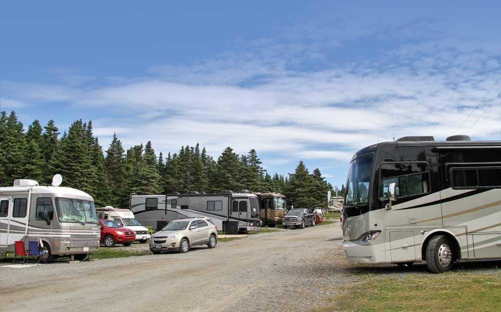 Peyton's Woods RV Park, near Twillingate, offers plenty of room for motorhomes.