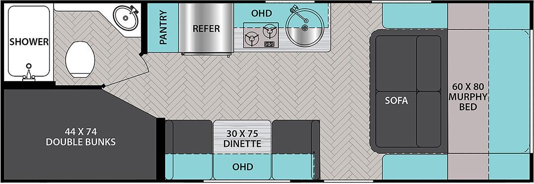 Ibex 19MBH floorplan illustration