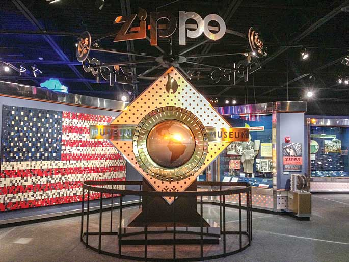 Visitors to the Zippo/Case Museum can learn the manufacturing histories of both the Case and Zippo companies through a variety of interactive and static displays.