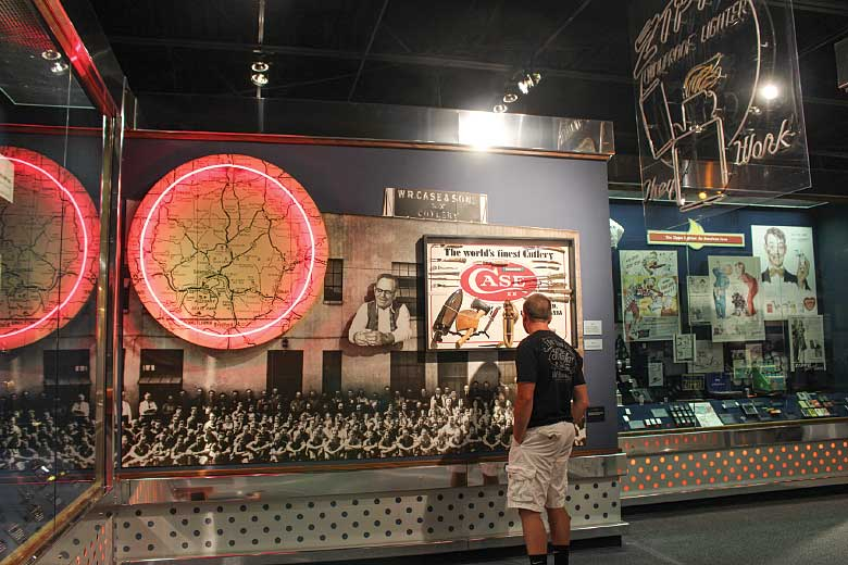 Visitors to the Zippo/Case Museum can learn the manufacturing histories of both the Case and Zippo companies through a variety of interactive and static displays. Photo: A.M. Murphy